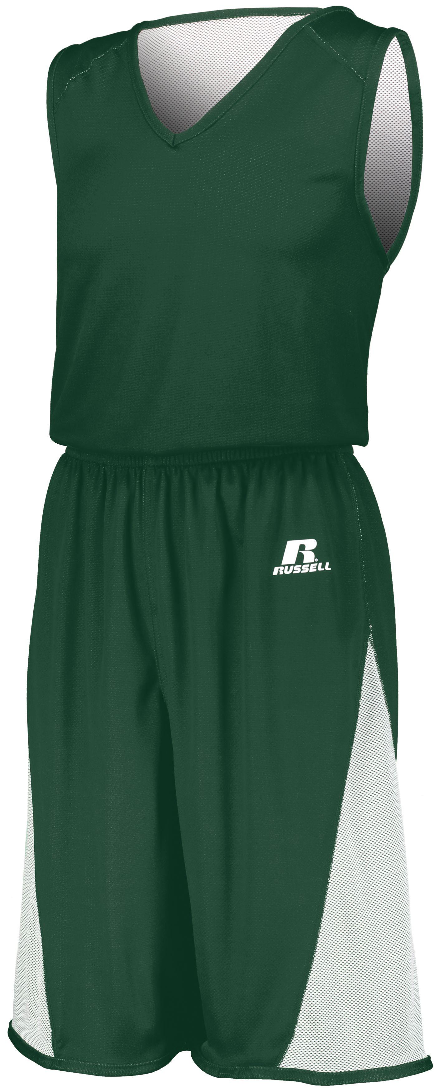 Undivided Single Ply Reversible Shorts - DARK GREEN/WHITE