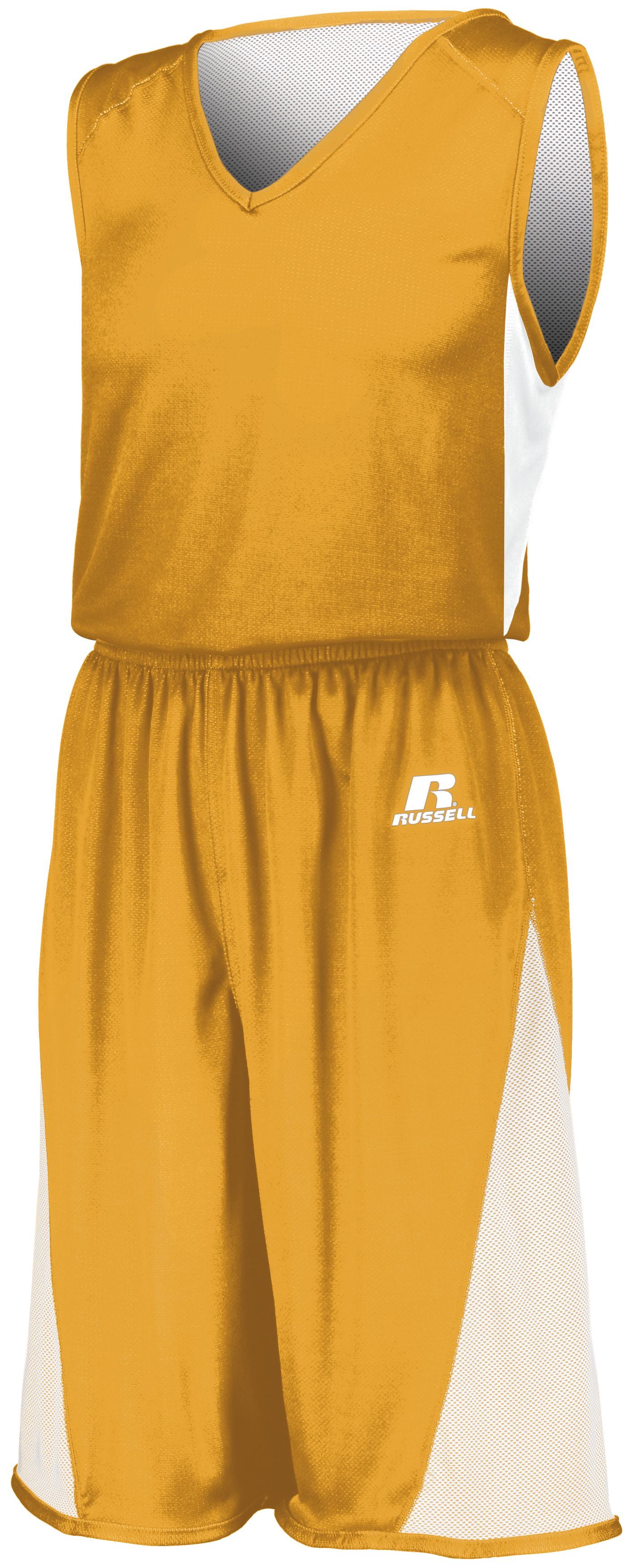 Undivided Single Ply Reversible Jersey - GOLD/WHITE