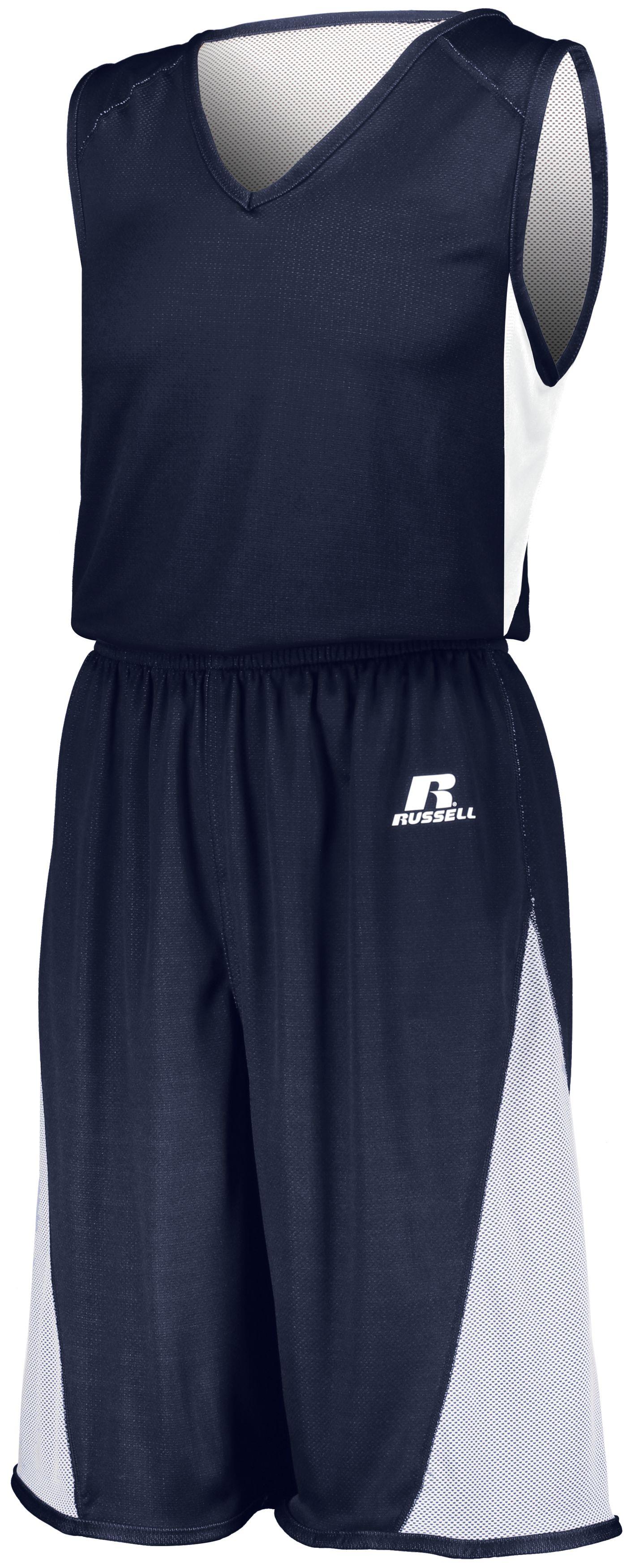 Undivided Single Ply Reversible Shorts - NAVY/WHITE