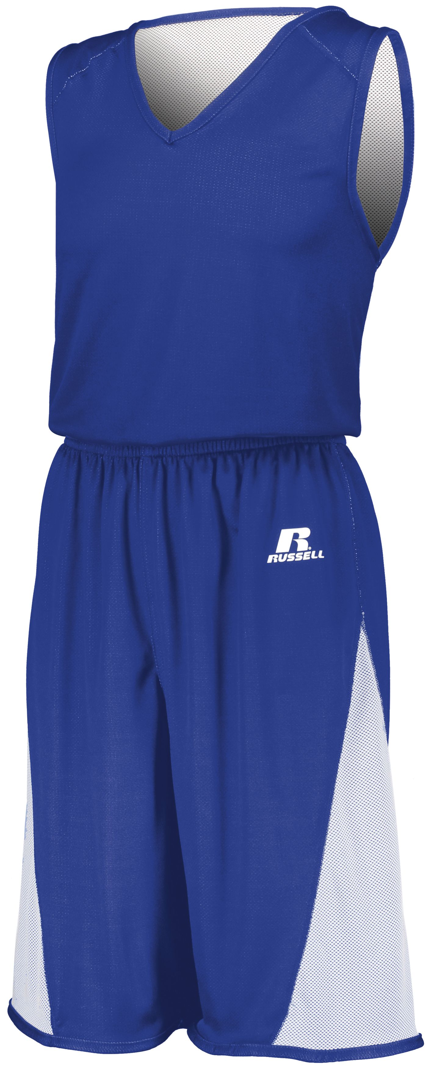 Undivided Single Ply Reversible Jersey - ROYAL/WHITE