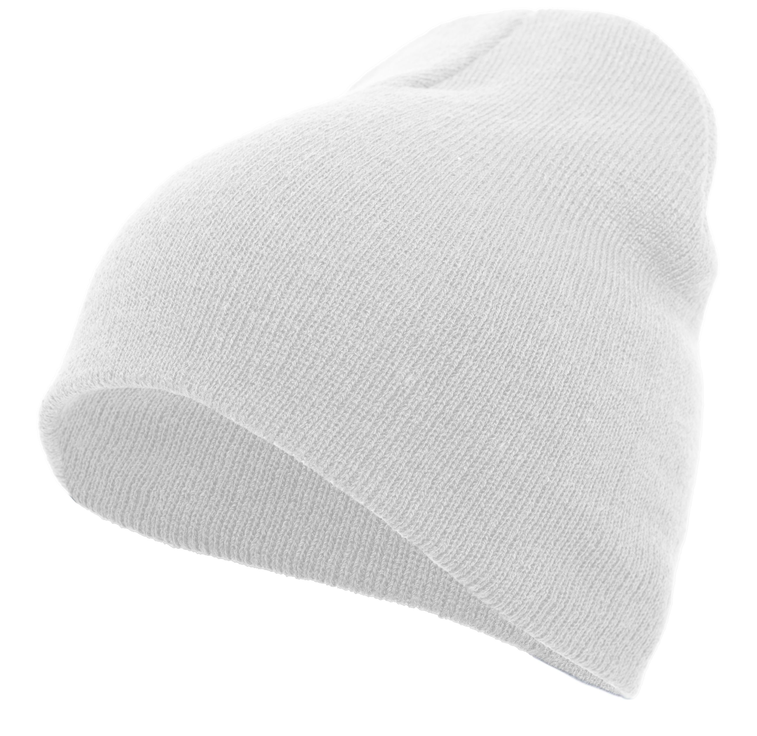 Basic Knit Beanie - WHITE