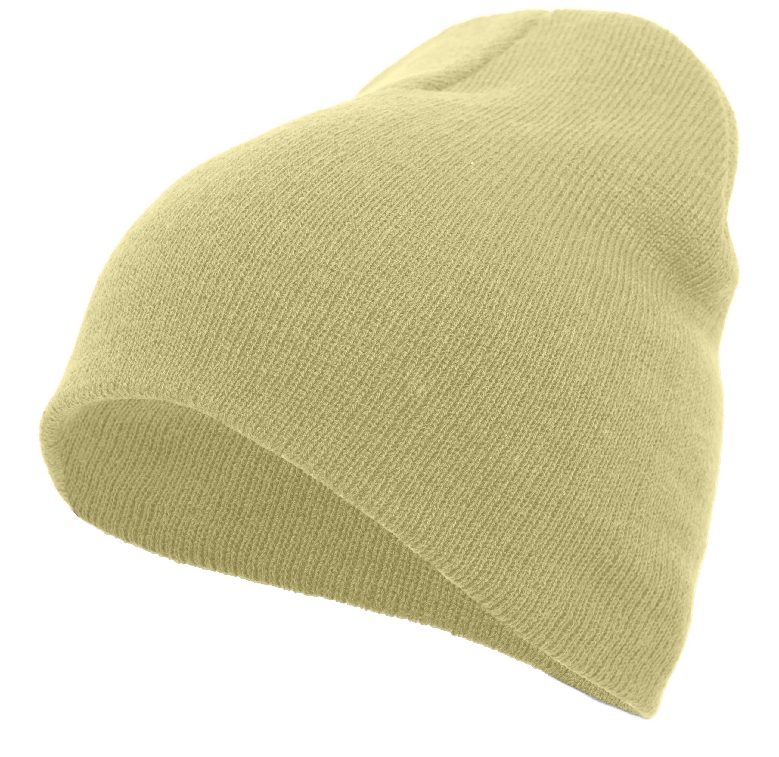 Basic Knit Beanie - VEGAS GOLD