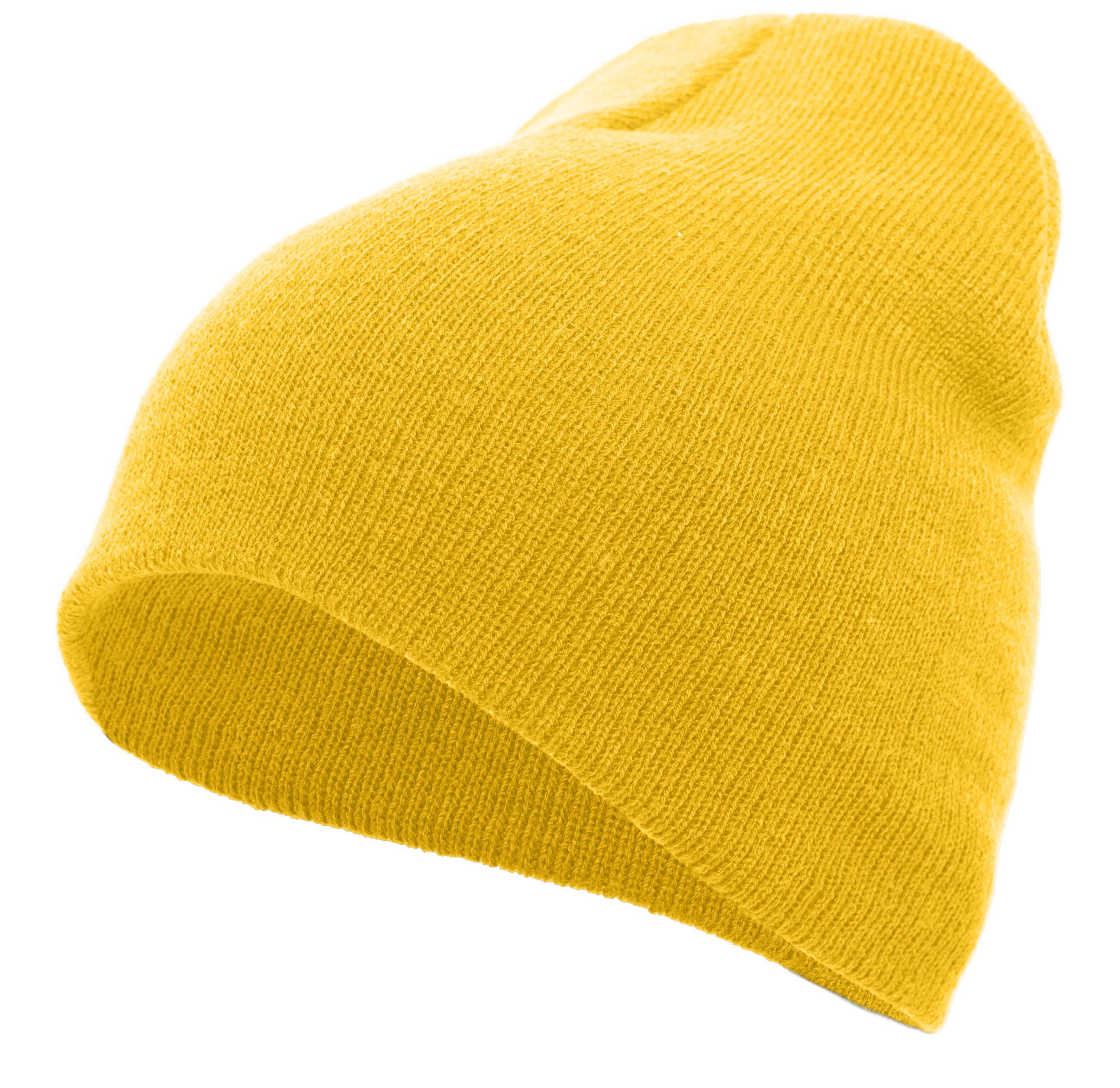 Basic Knit Beanie - GOLD
