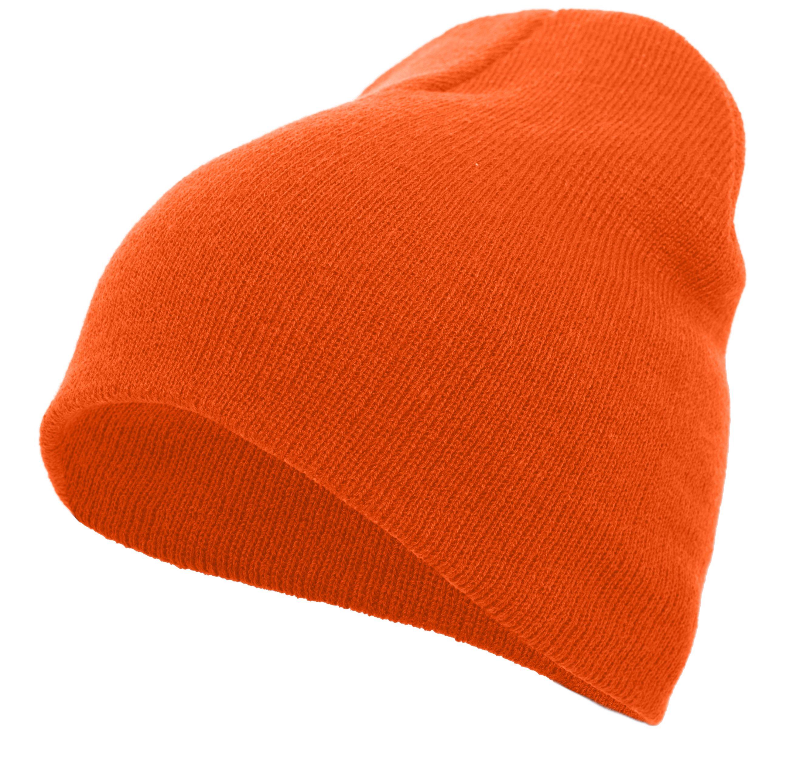 Basic Knit Beanie - ORANGE