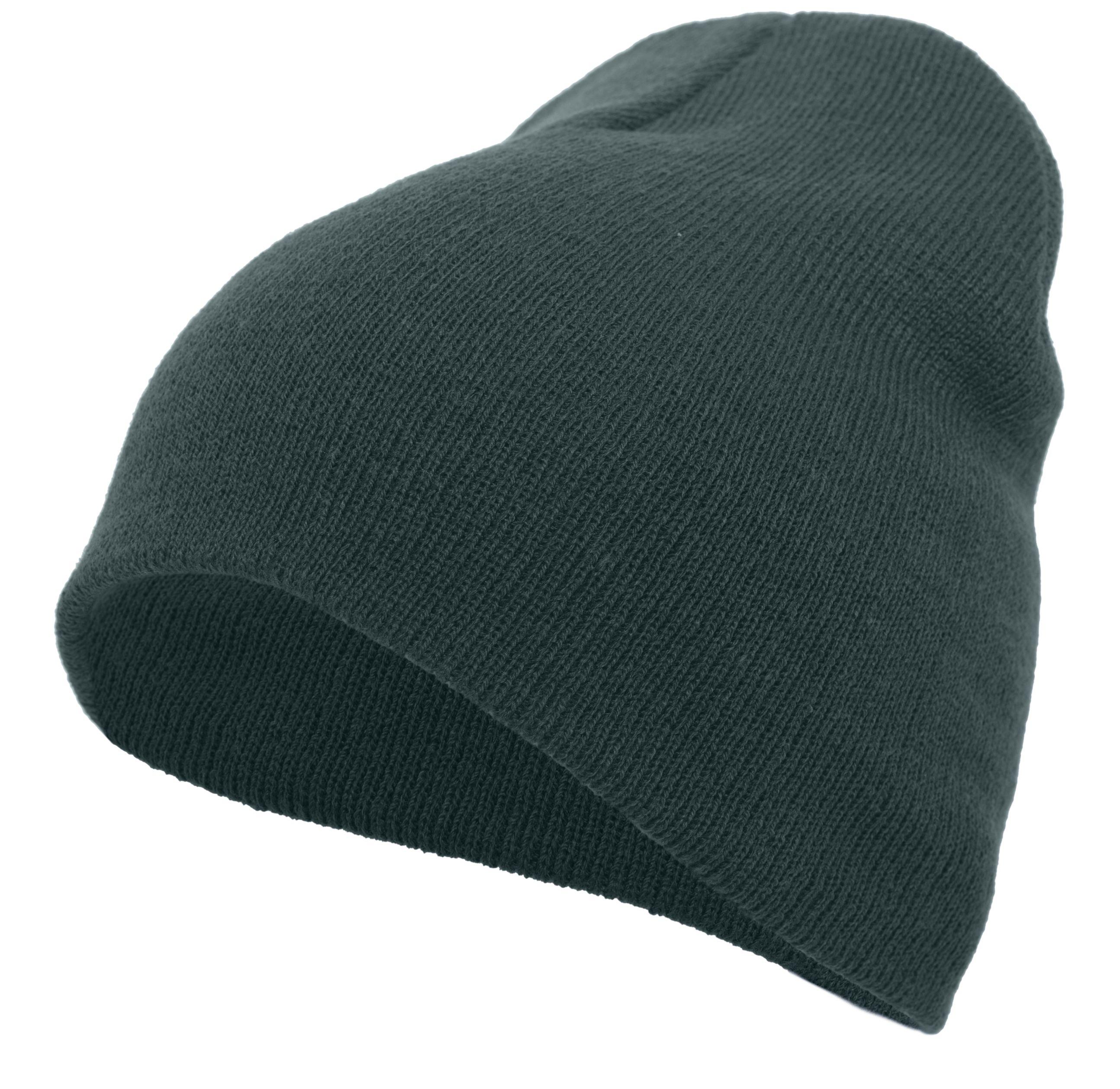 Basic Knit Beanie - DARK GREEN