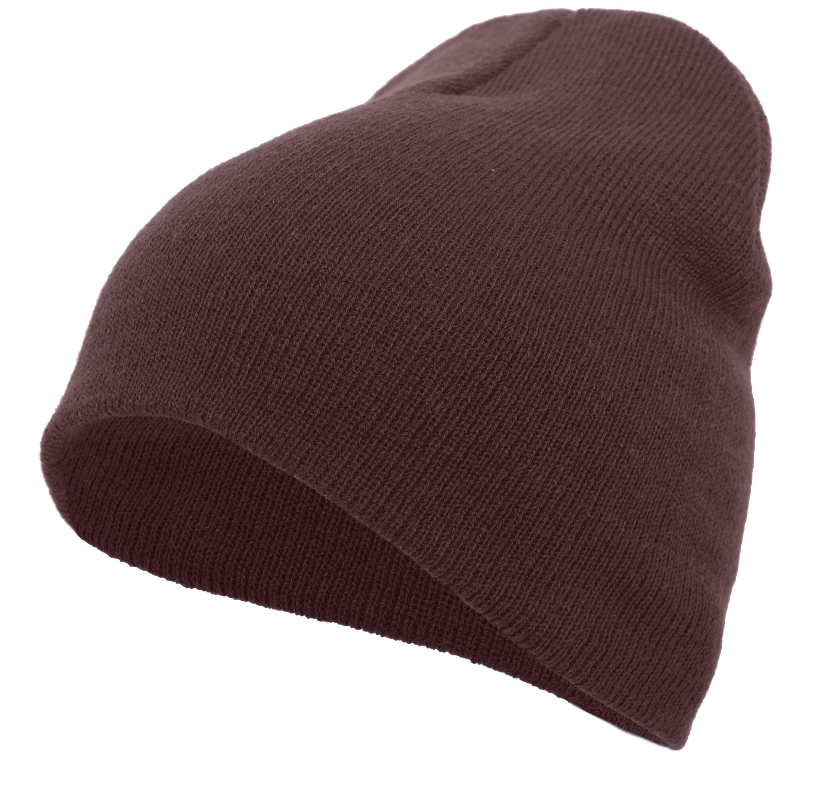 Basic Knit Beanie - MAROON