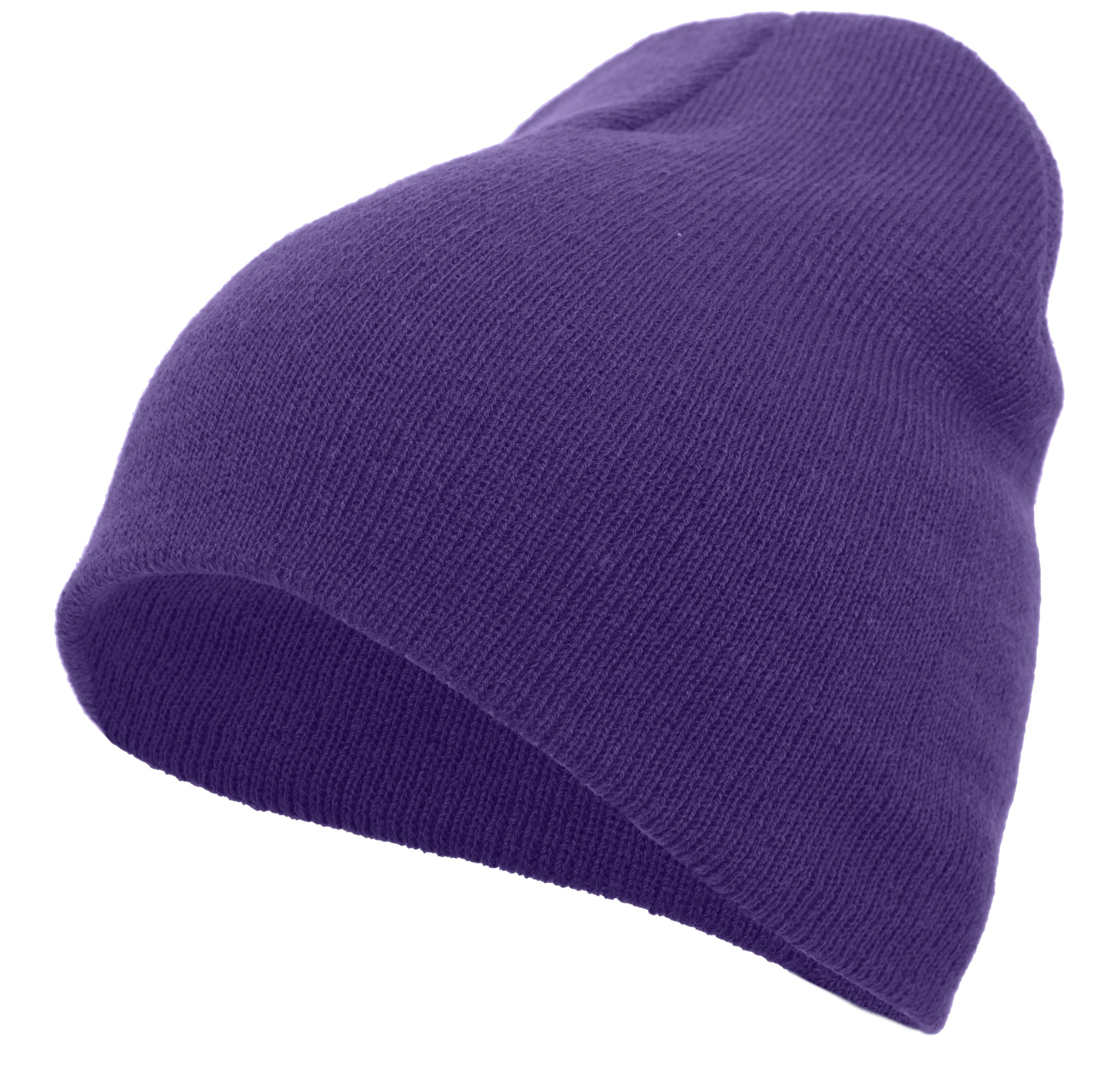 Basic Knit Beanie - PURPLE