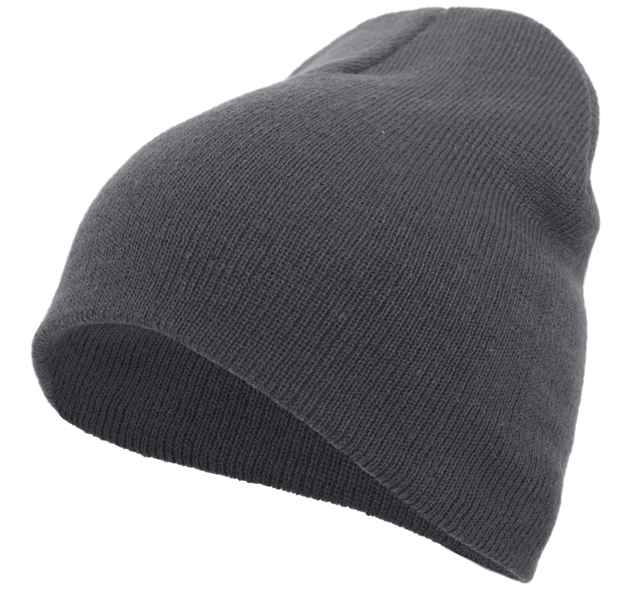 Basic Knit Beanie - GRAPHITE