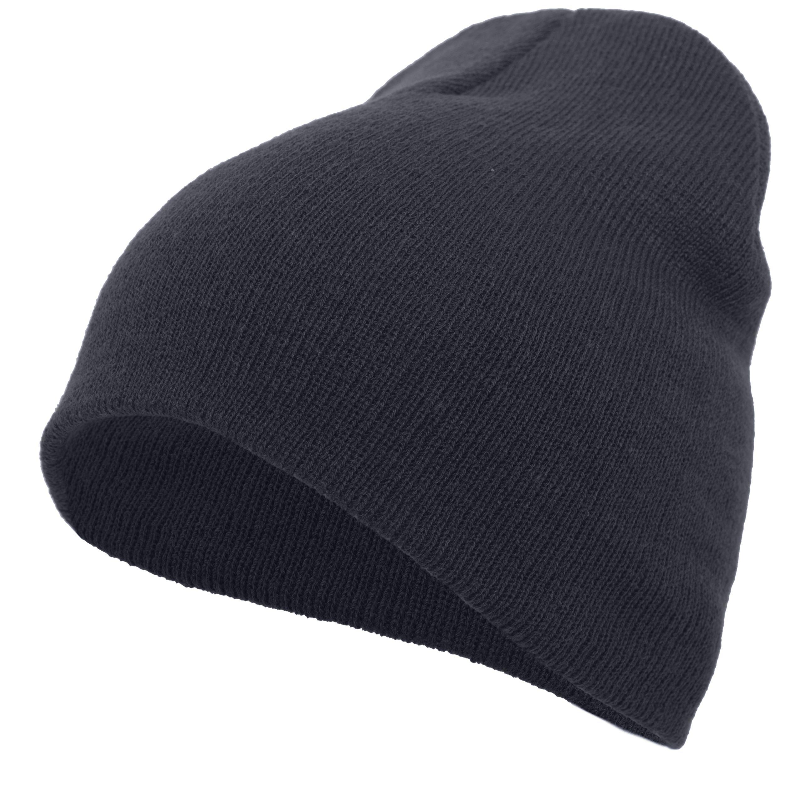 Basic Knit Beanie - NAVY