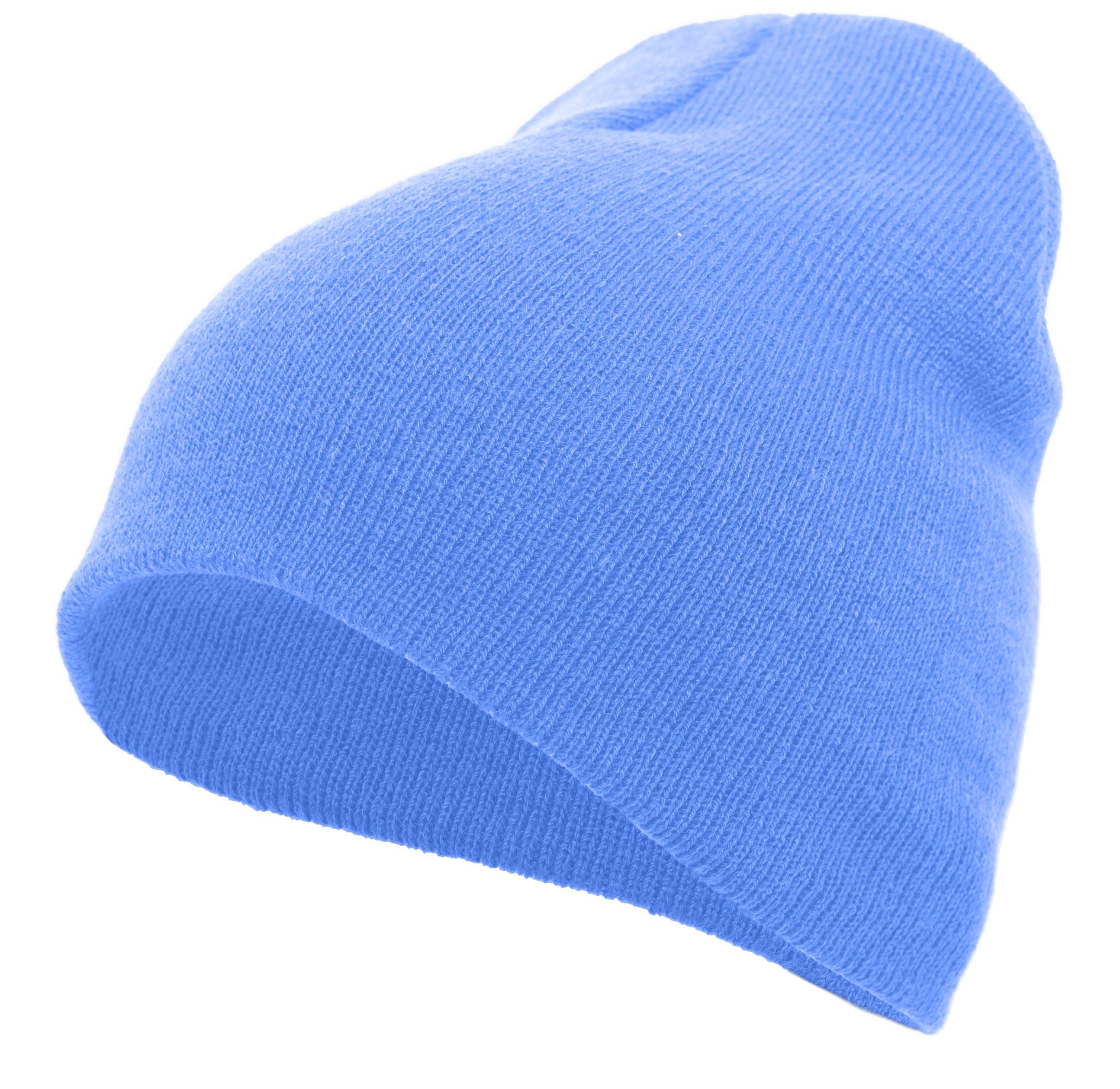 Basic Knit Beanie - COLUMBIA BLUE