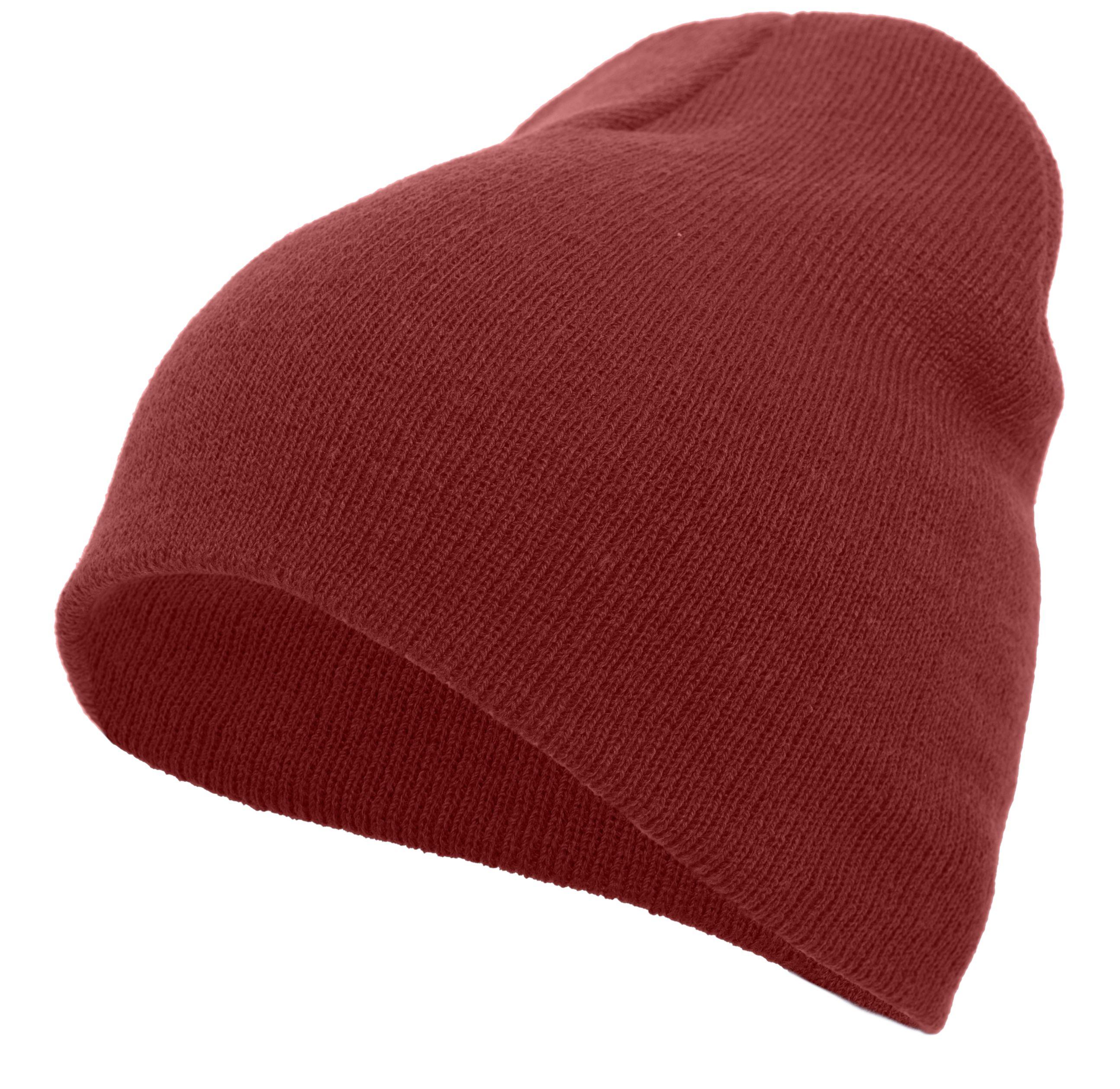 Basic Knit Beanie - CARDINAL