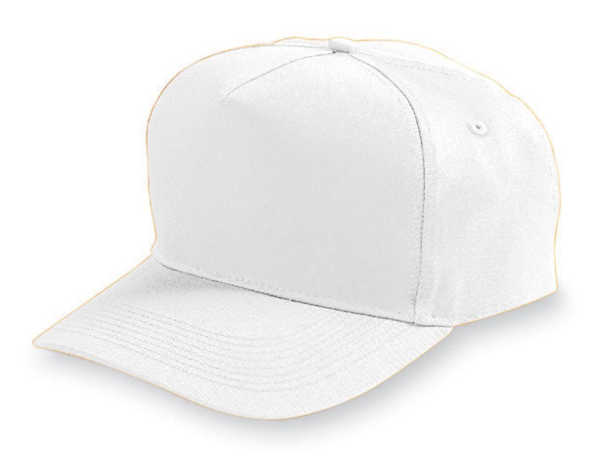 Five-Panel Cotton Twill Cap - WHITE
