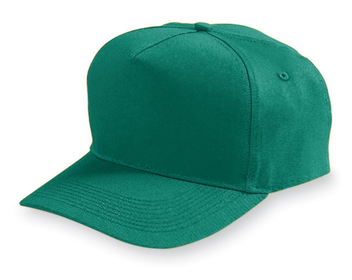 Five-Panel Cotton Twill Cap - DARK GREEN