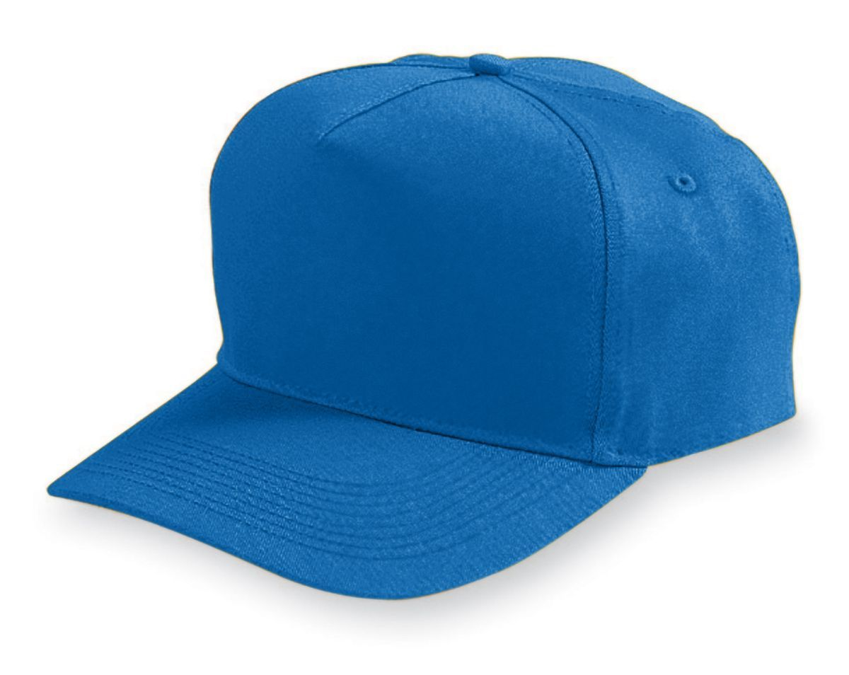 Five-Panel Cotton Twill Cap - ROYAL