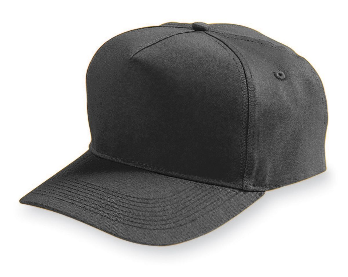 Five-Panel Cotton Twill Cap - BLACK