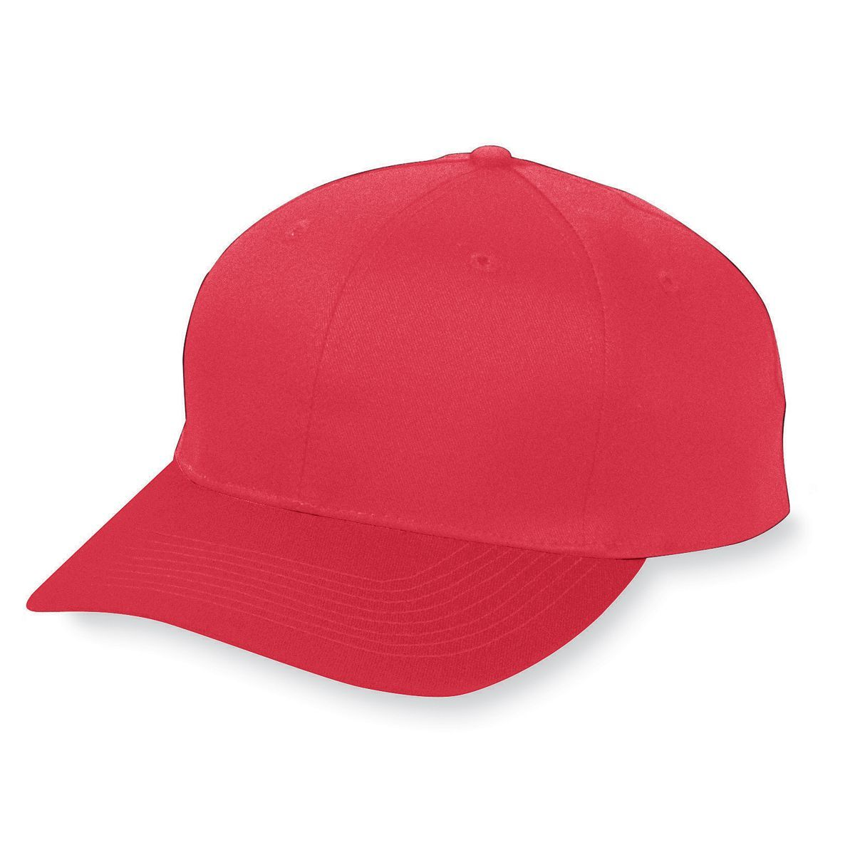 Six-Panel Cotton Twill Low-Profile Cap - RED