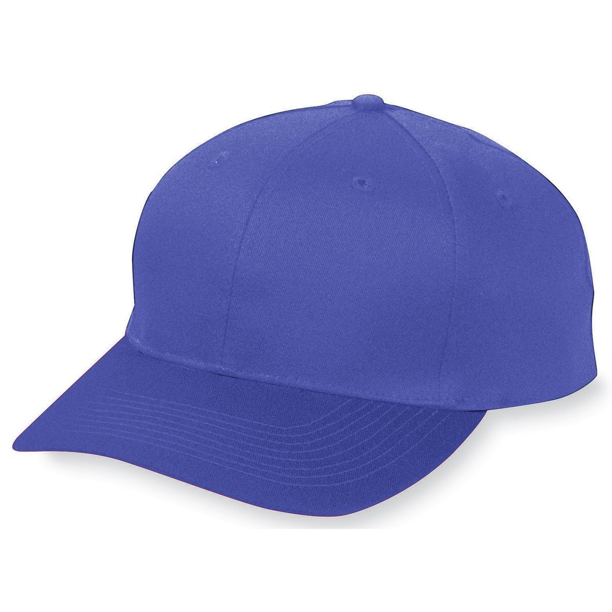 Six-Panel Cotton Twill Low-Profile Cap - PURPLE
