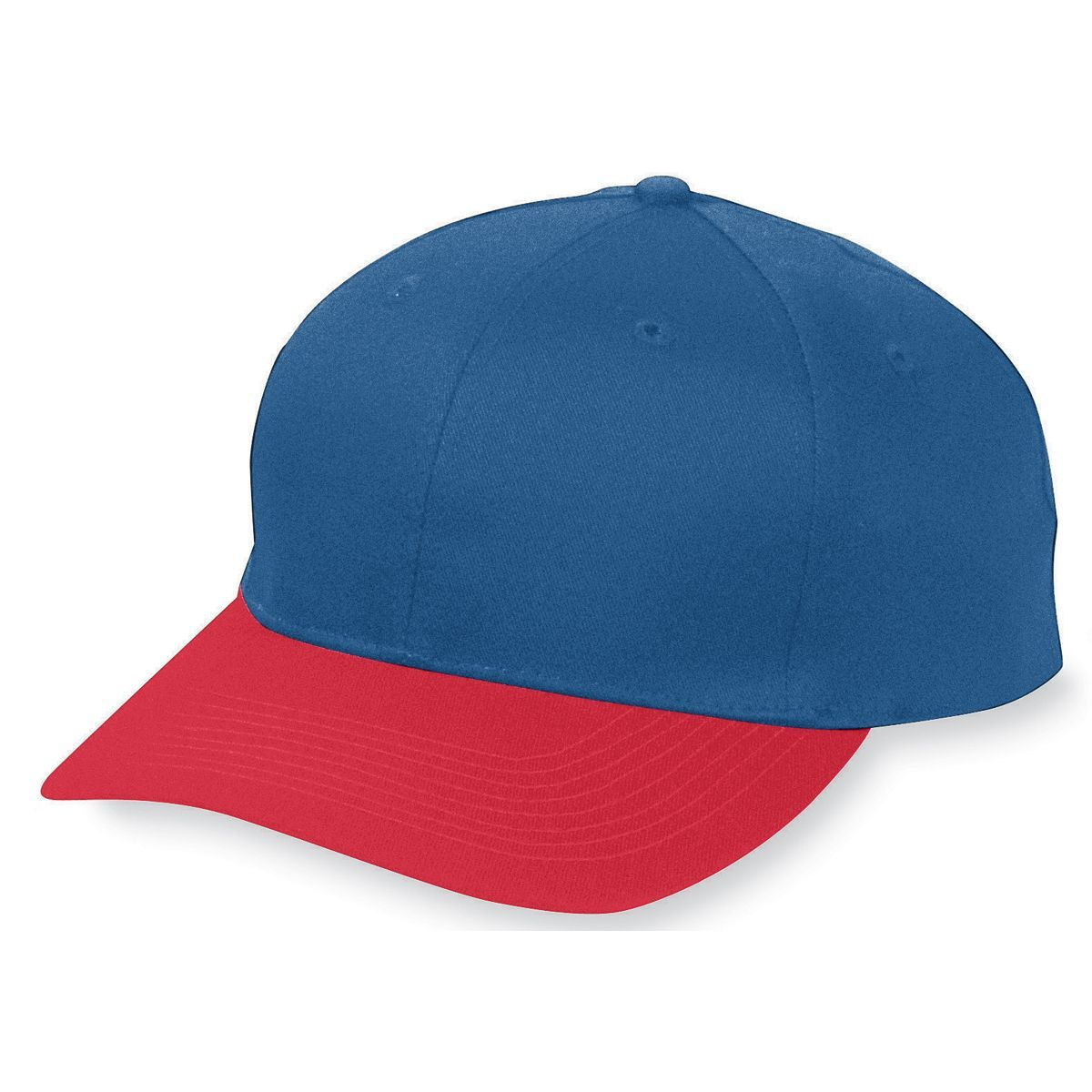 Six-Panel Cotton Twill Low-Profile Cap - NAVY/RED