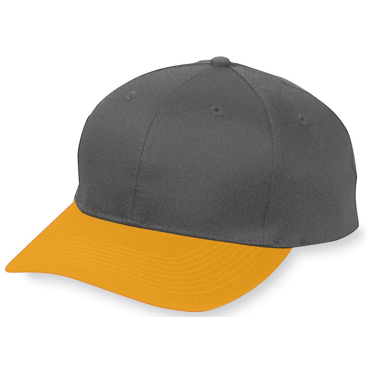 Six-Panel Cotton Twill Low-Profile Cap - BLACK/GOLD