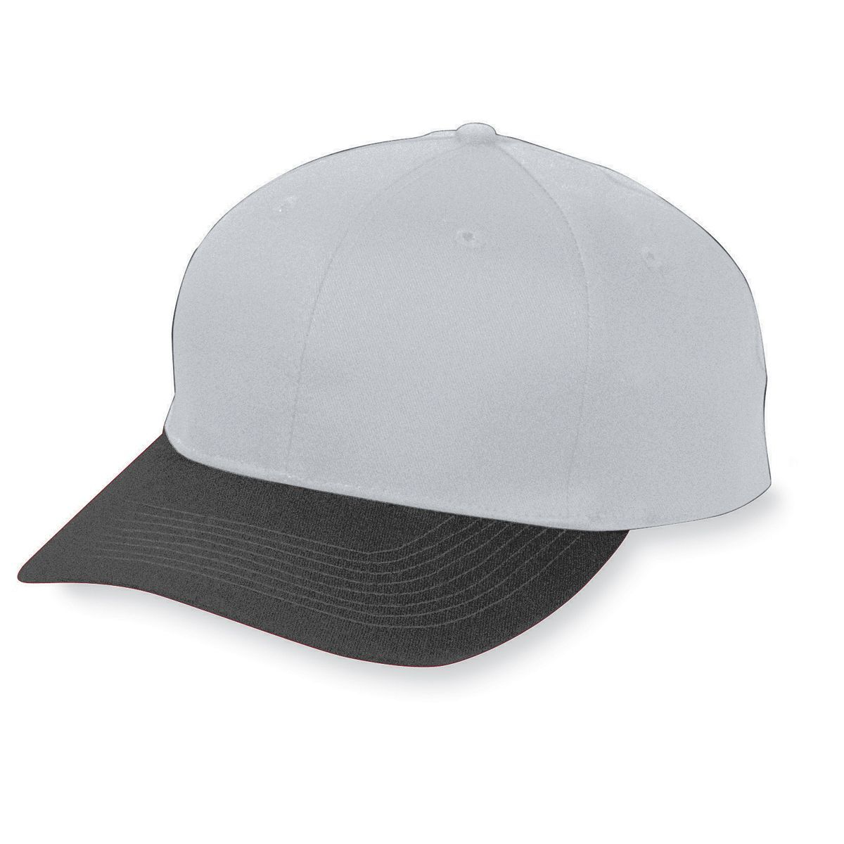 Six-Panel Cotton Twill Low-Profile Cap - SILVER GREY/BLACK