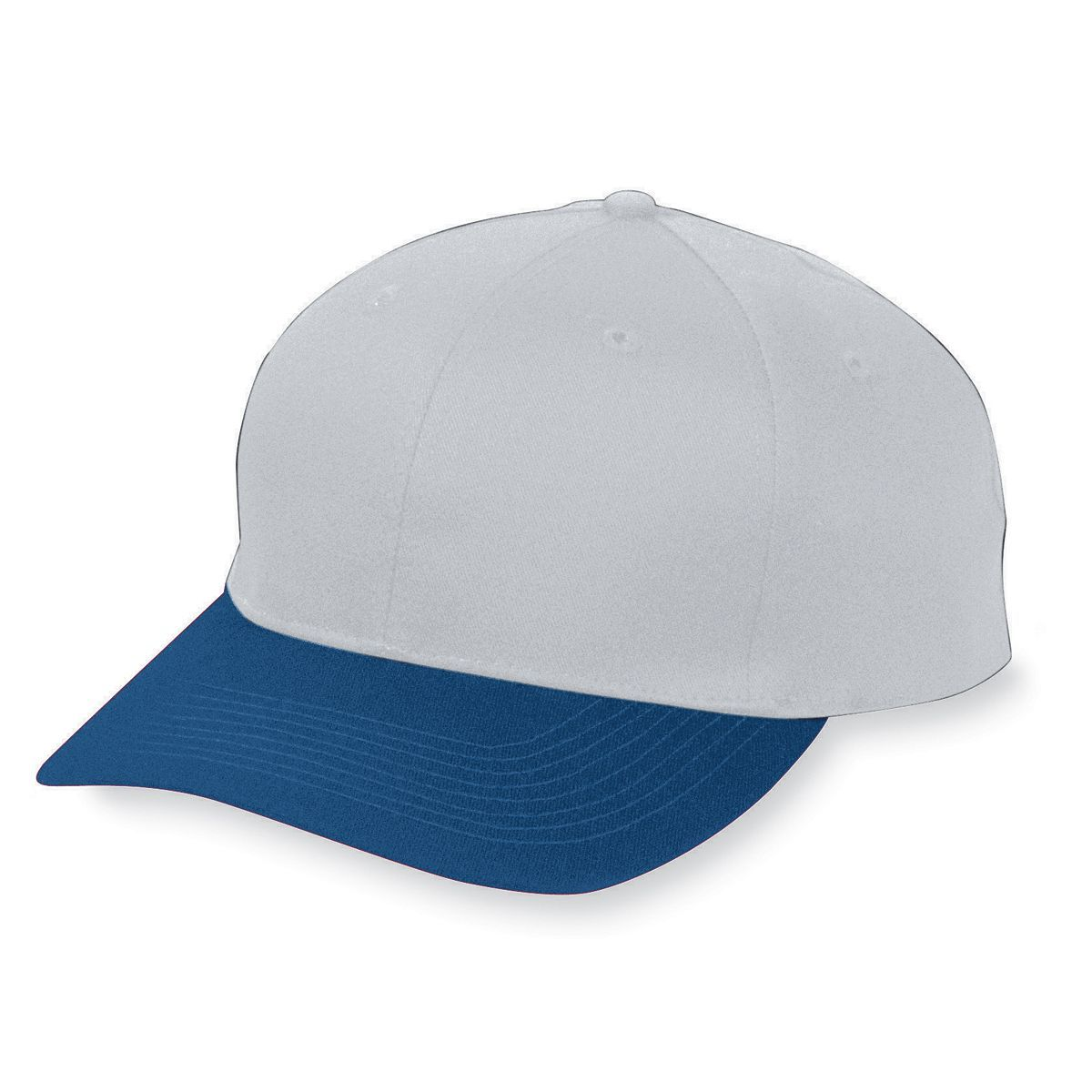 Six-Panel Cotton Twill Low-Profile Cap - SILVER GREY/NAVY