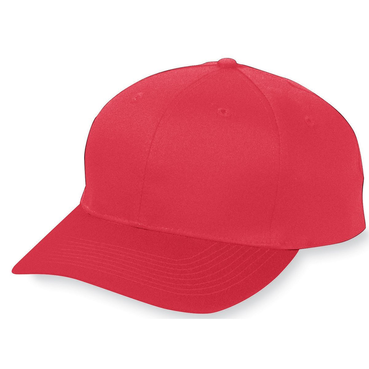 Youth Six-Panel Cotton Twill Low-Profile Cap - RED