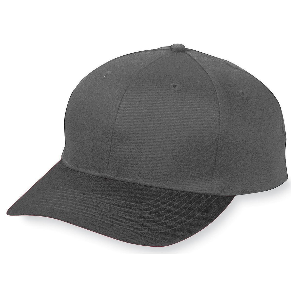 Youth Six-Panel Cotton Twill Low-Profile Cap - BLACK