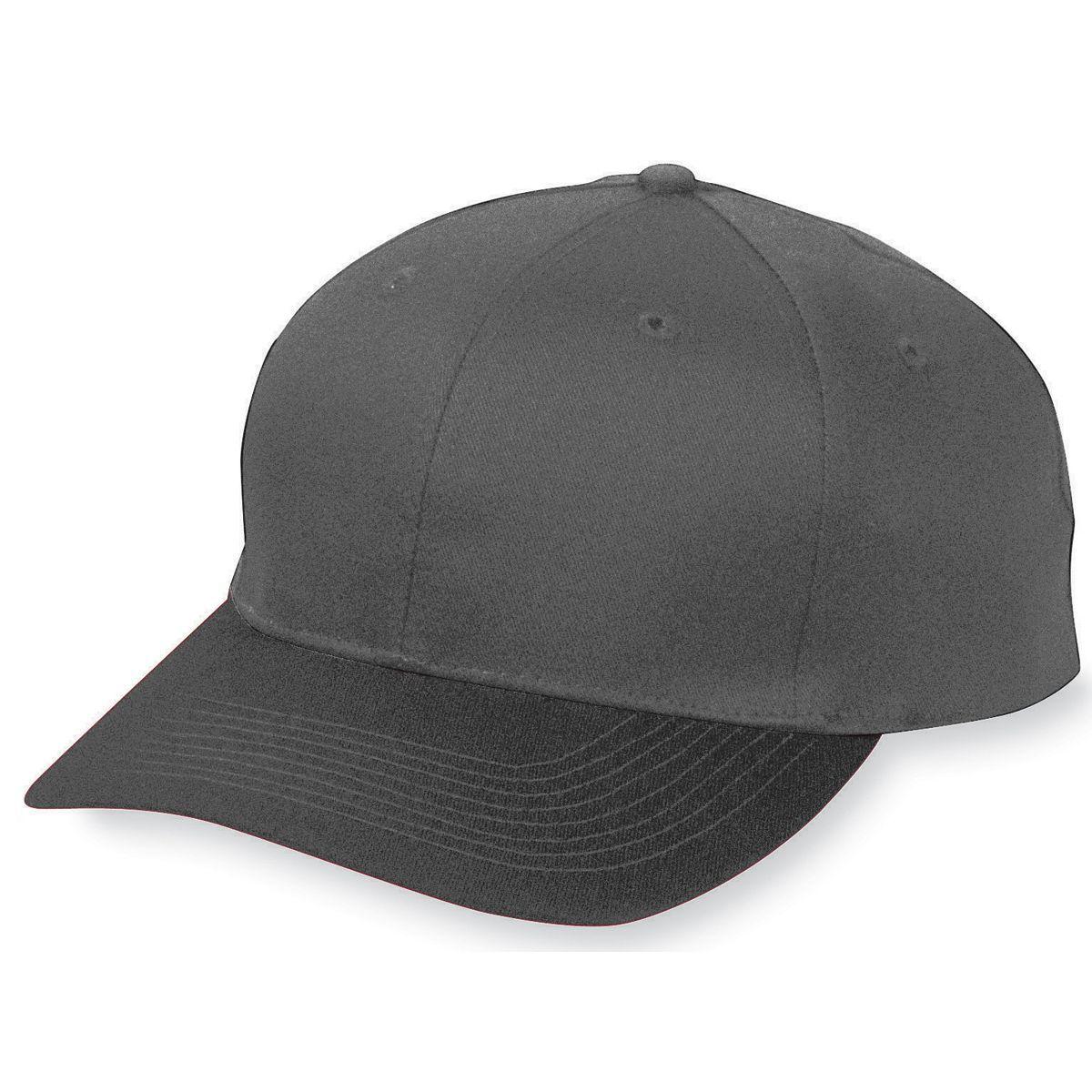 Youth Six-Panel Cotton Twill Low-Profile Cap - BLACK