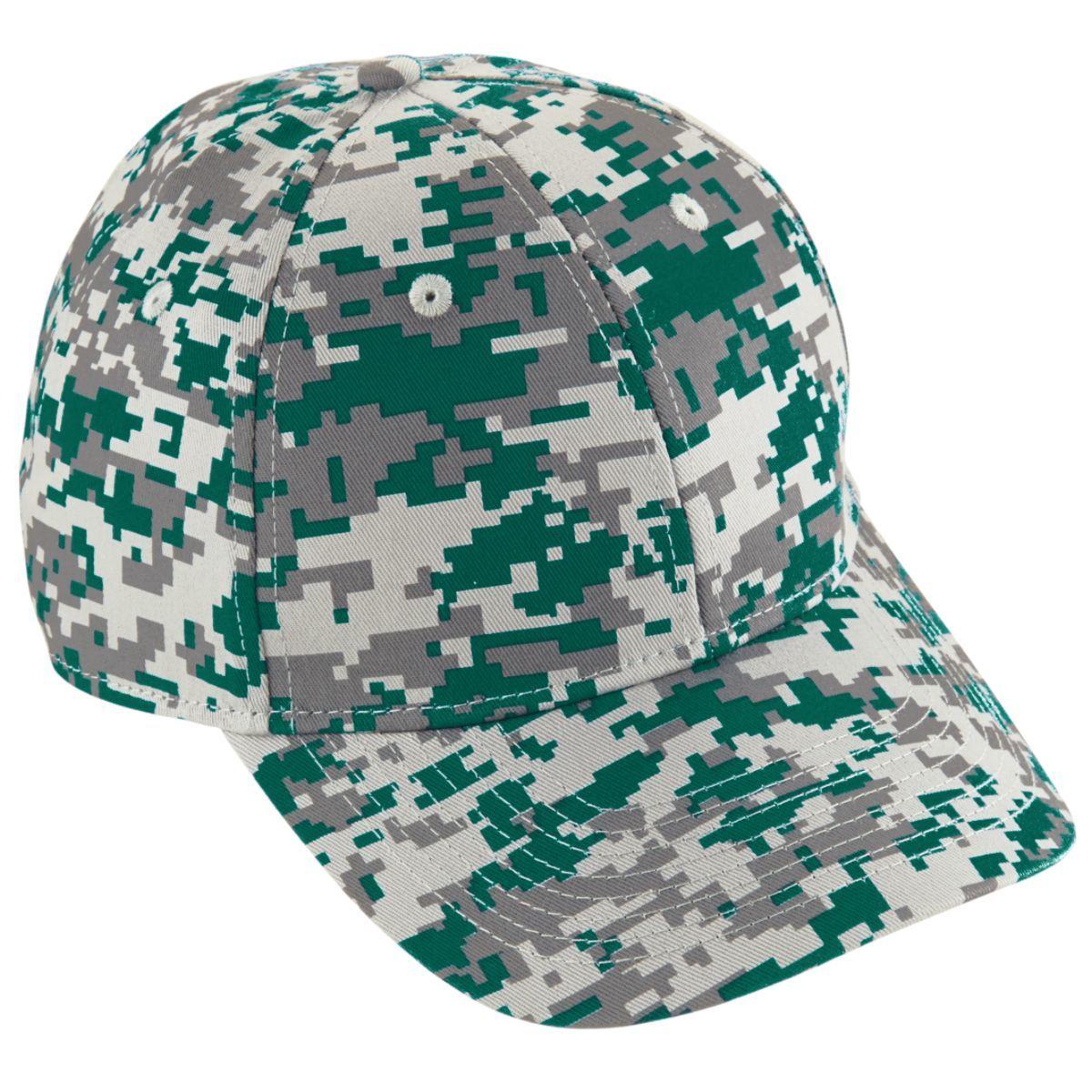 Youth Digi Camo Cotton Twill Cap - Dark Green Digi