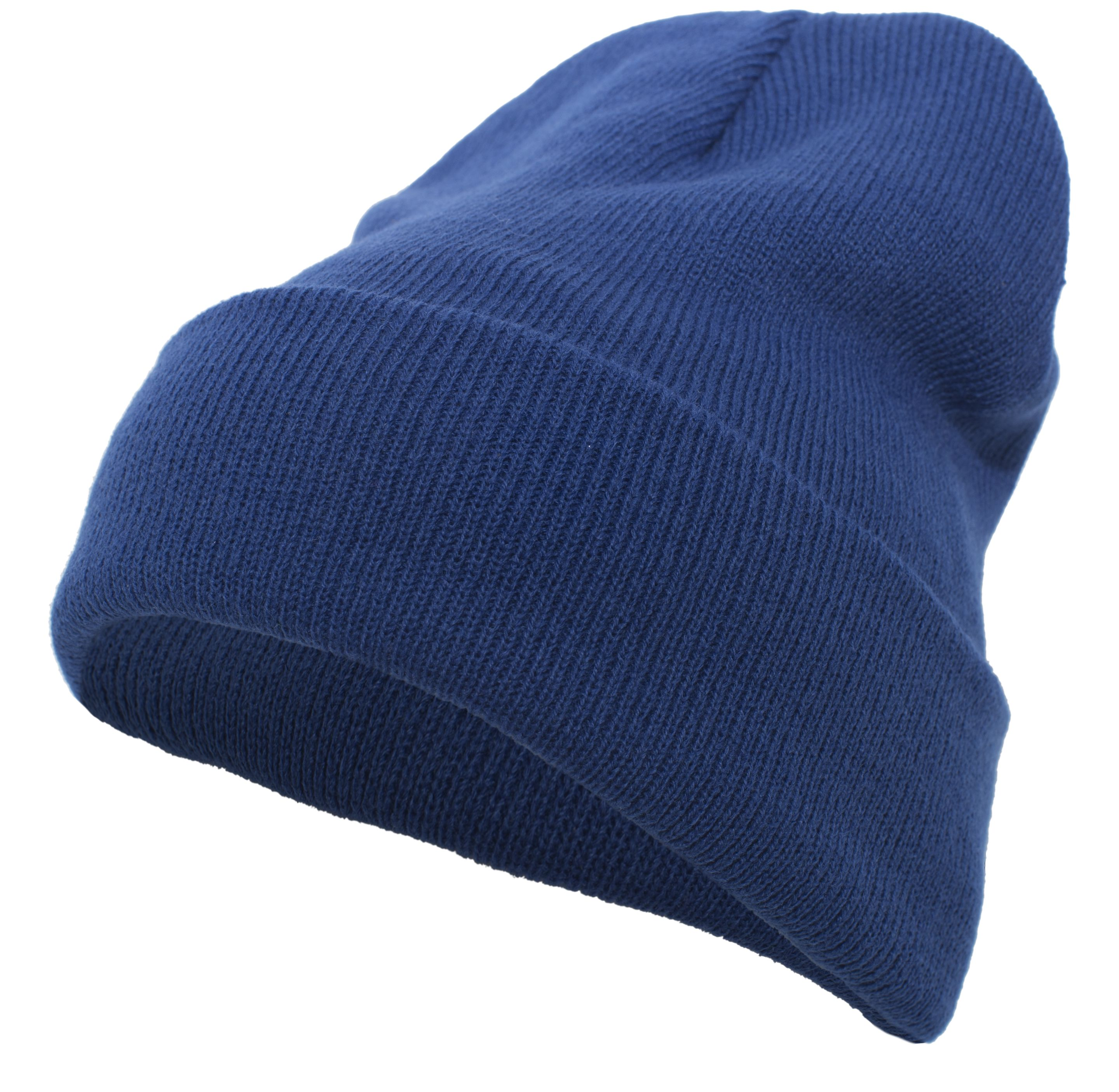 Knit Fold Over Beanie - ROYAL