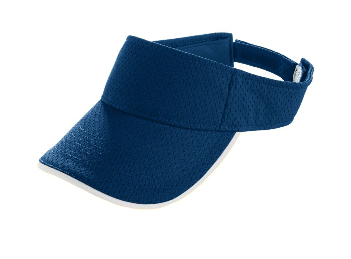 Youth Athletic Mesh Two-Color Visor - NAVY/WHITE