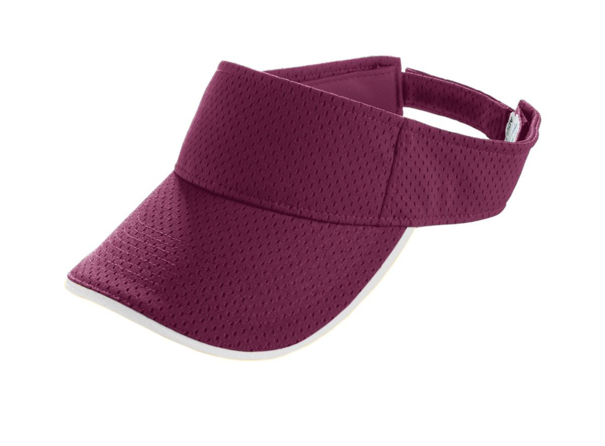 Youth Athletic Mesh Two-Color Visor - MAROON/WHITE