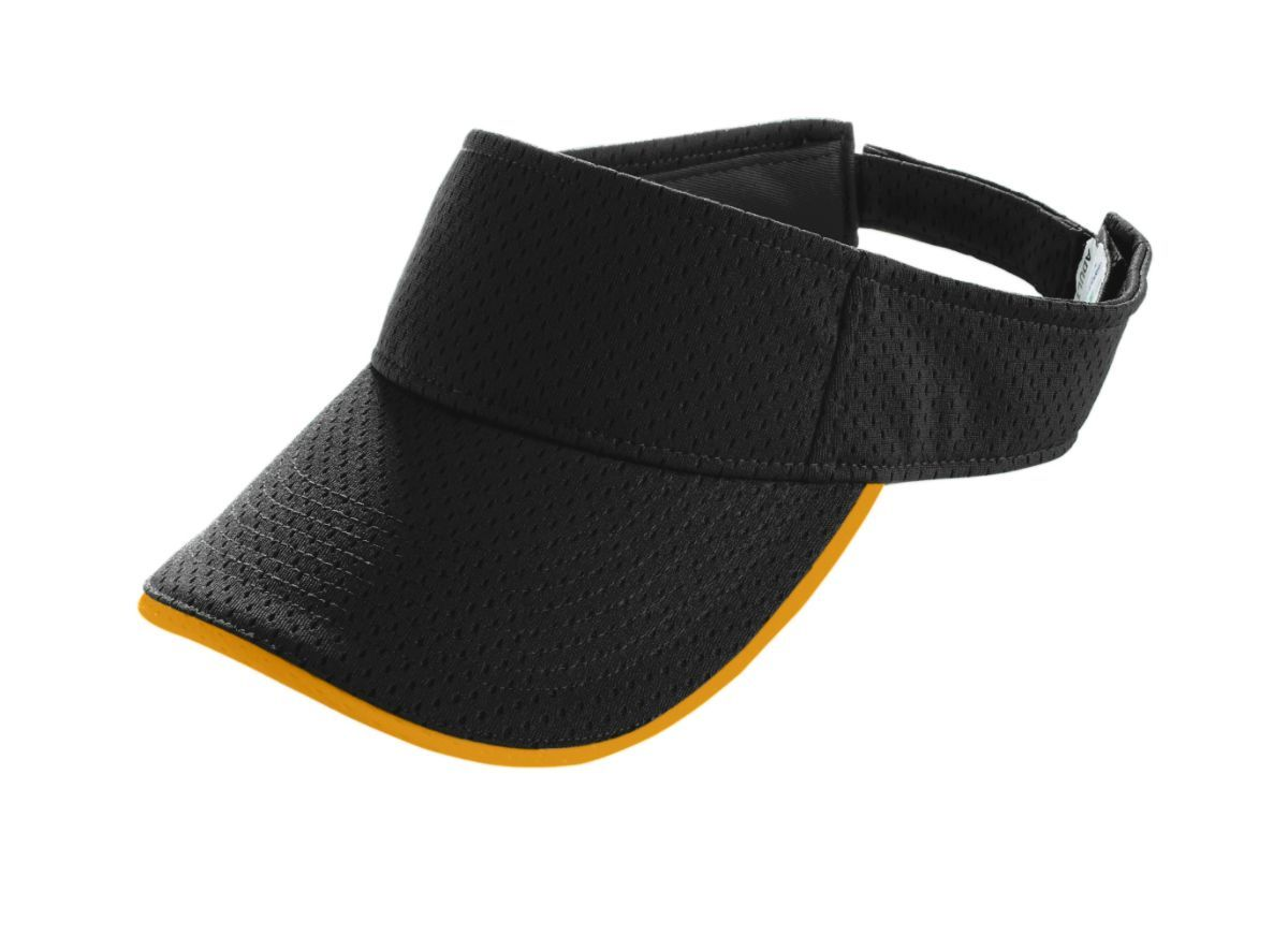 Youth Athletic Mesh Two-Color Visor - BLACK/GOLD