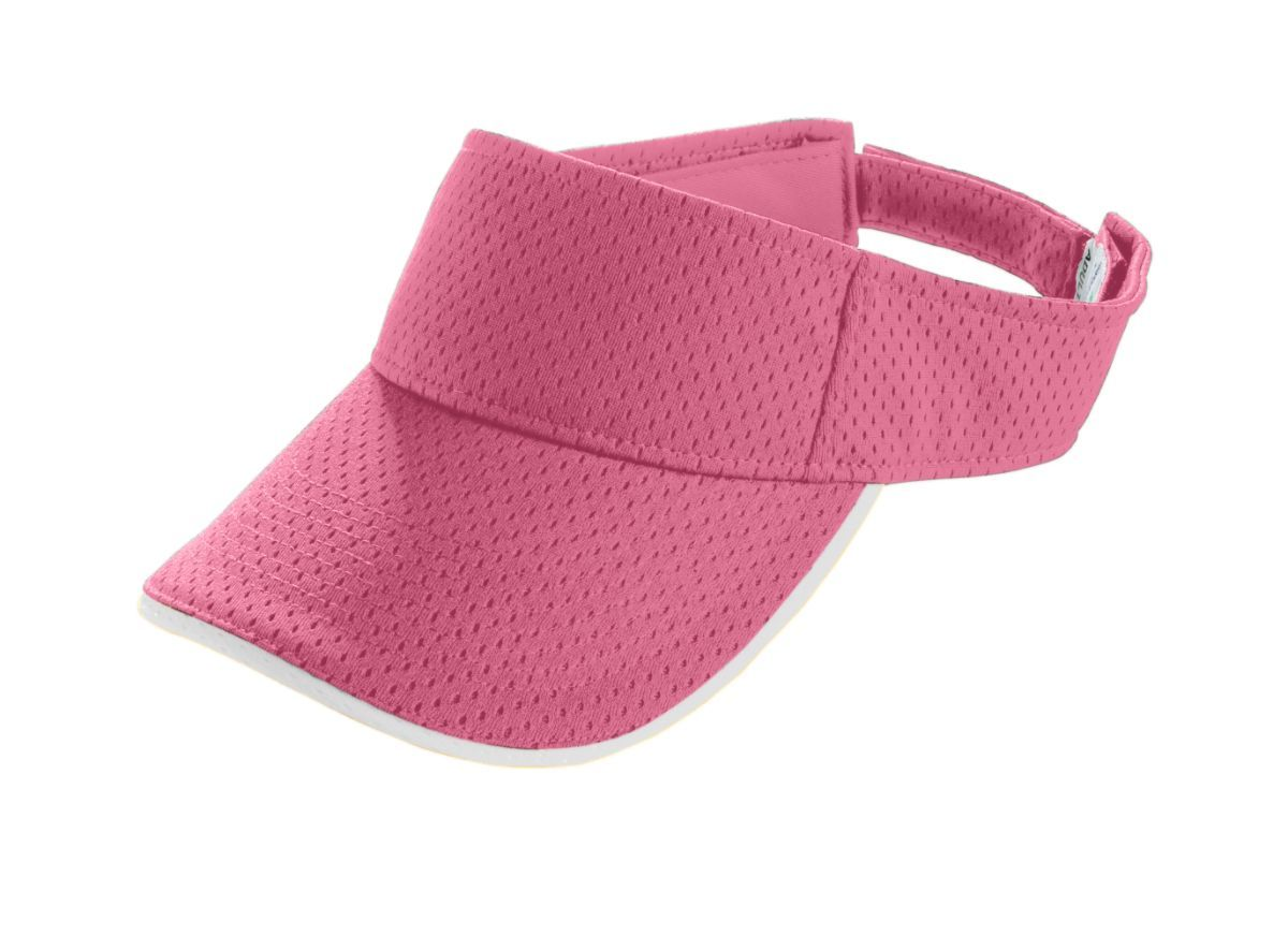 Youth Athletic Mesh Two-Color Visor - PINK/WHITE