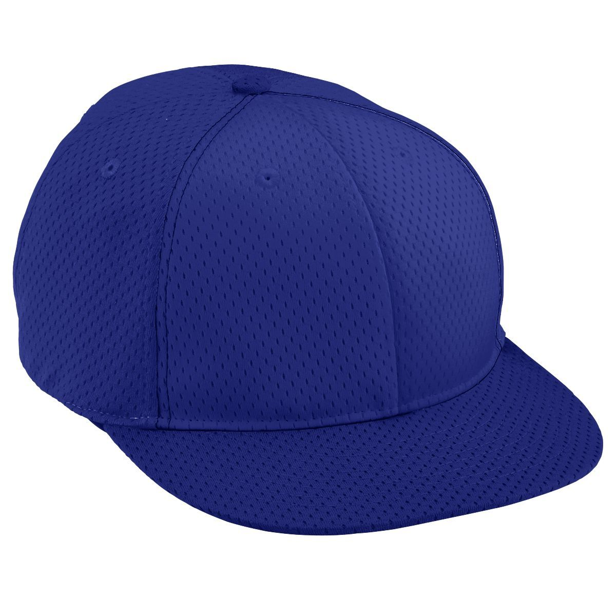 Adult Athletic Mesh Flat Bill Cap - PURPLE/PURPLE/PURPLE