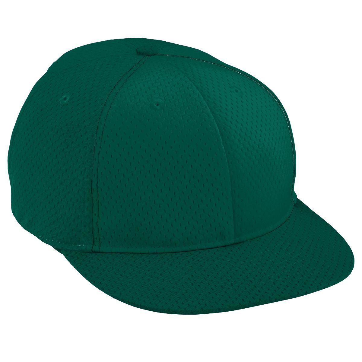 Youth Athletic Mesh Flat Bill Cap - DARK GREEN/DARK GREEN/DARK GREEN