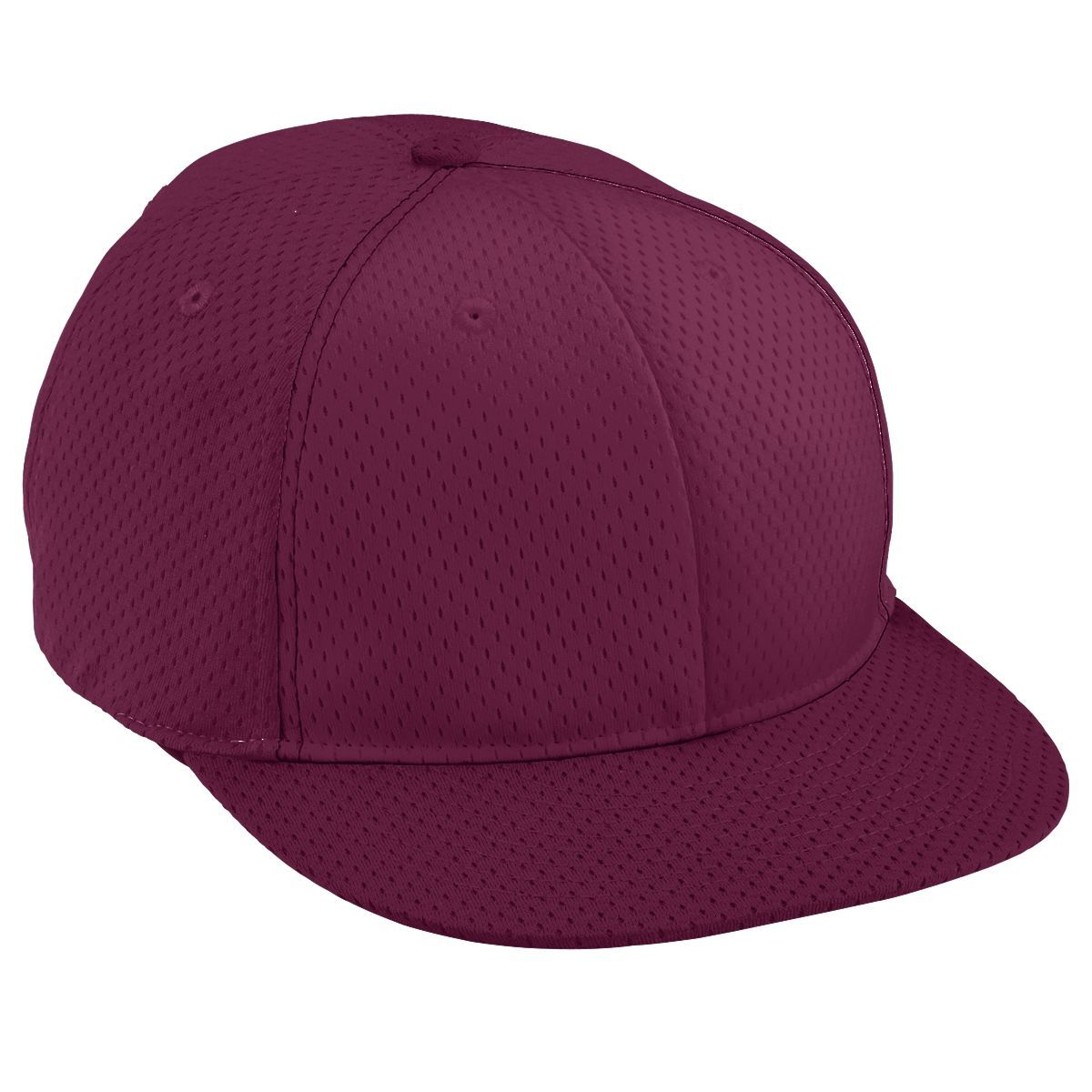 Youth Athletic Mesh Flat Bill Cap - MAROON/MAROON/MAROON