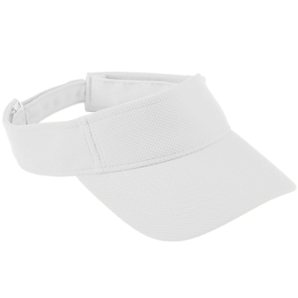 Adjustable Wicking Mesh Visor - White