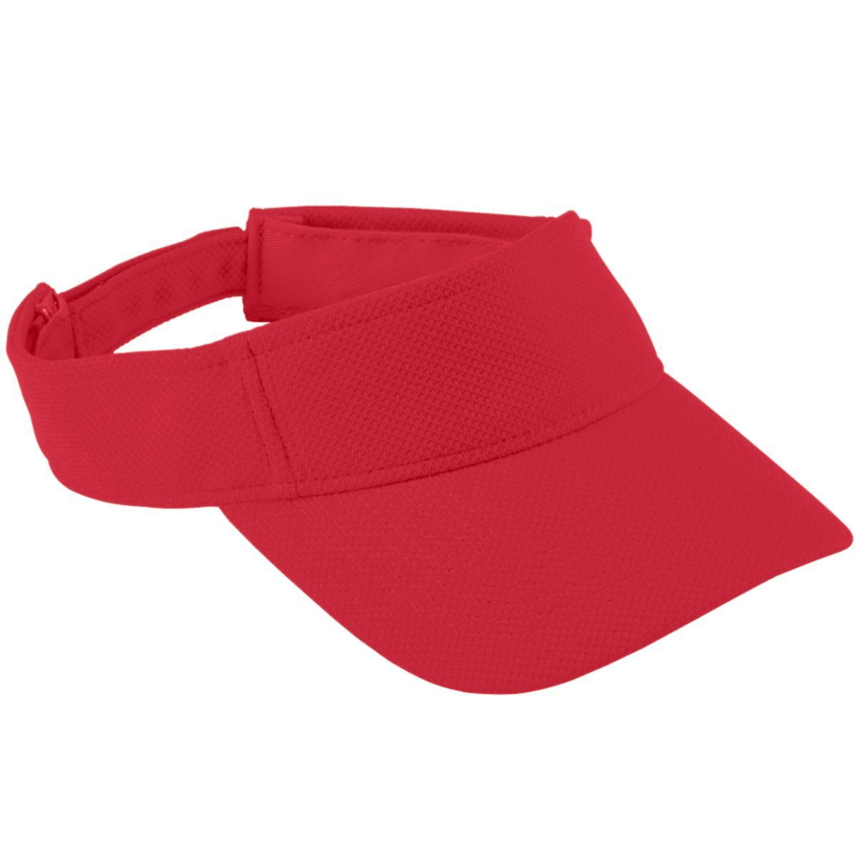 Adjustable Wicking Mesh Visor - Red