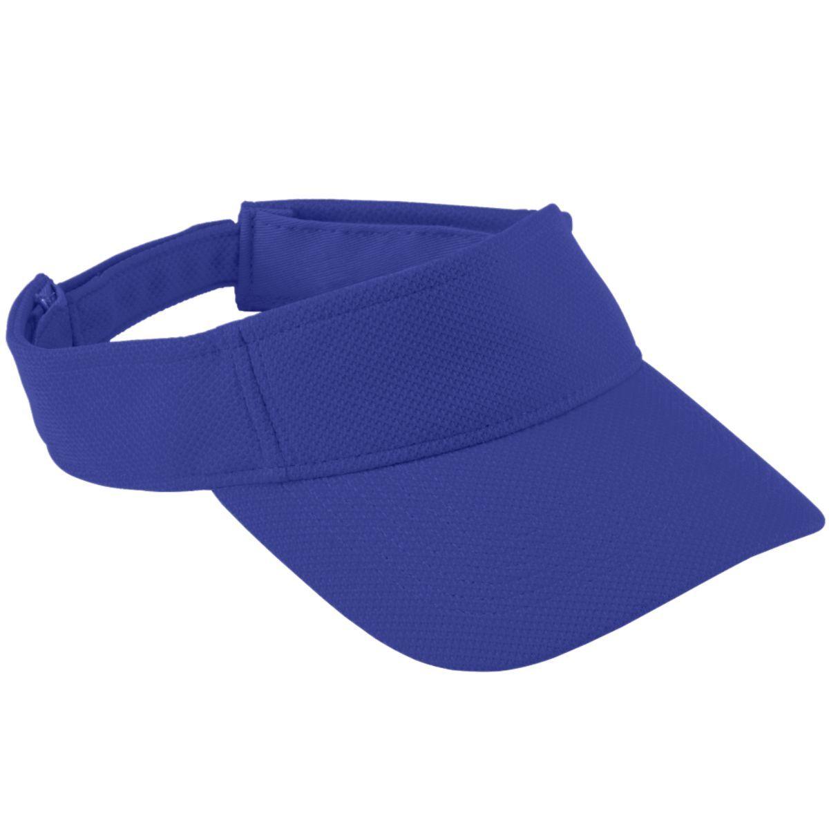 Adjustable Wicking Mesh Visor - Purple