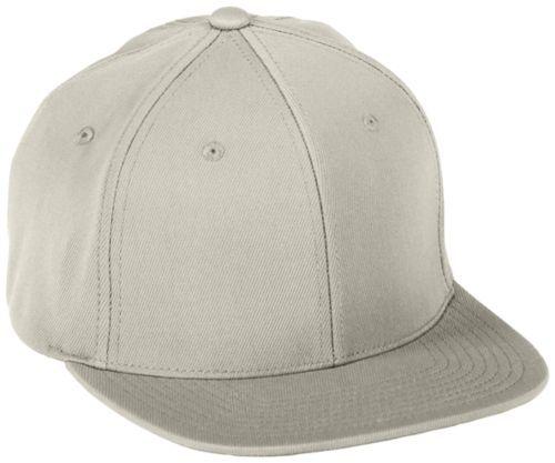 Flexfitâ® Flat Bill Cap - SILVER GREY
