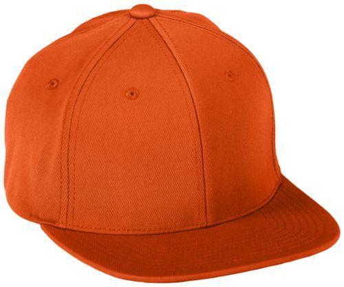 Flexfitâ® Flat Bill Cap - ORANGE
