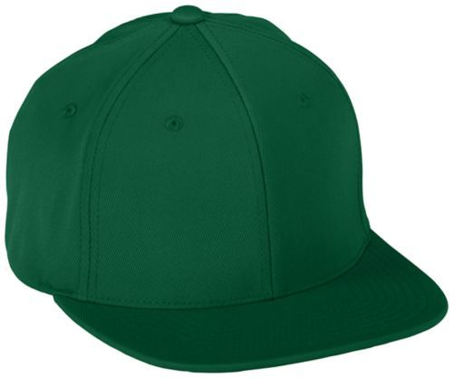Flexfitâ® Flat Bill Cap - DARK GREEN