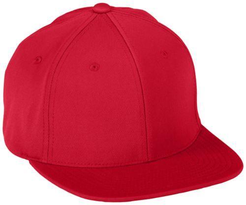 Flexfitâ® Flat Bill Cap - RED