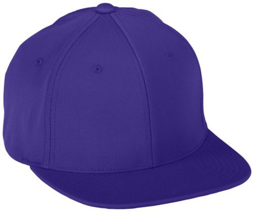 Flexfitâ® Flat Bill Cap - PURPLE