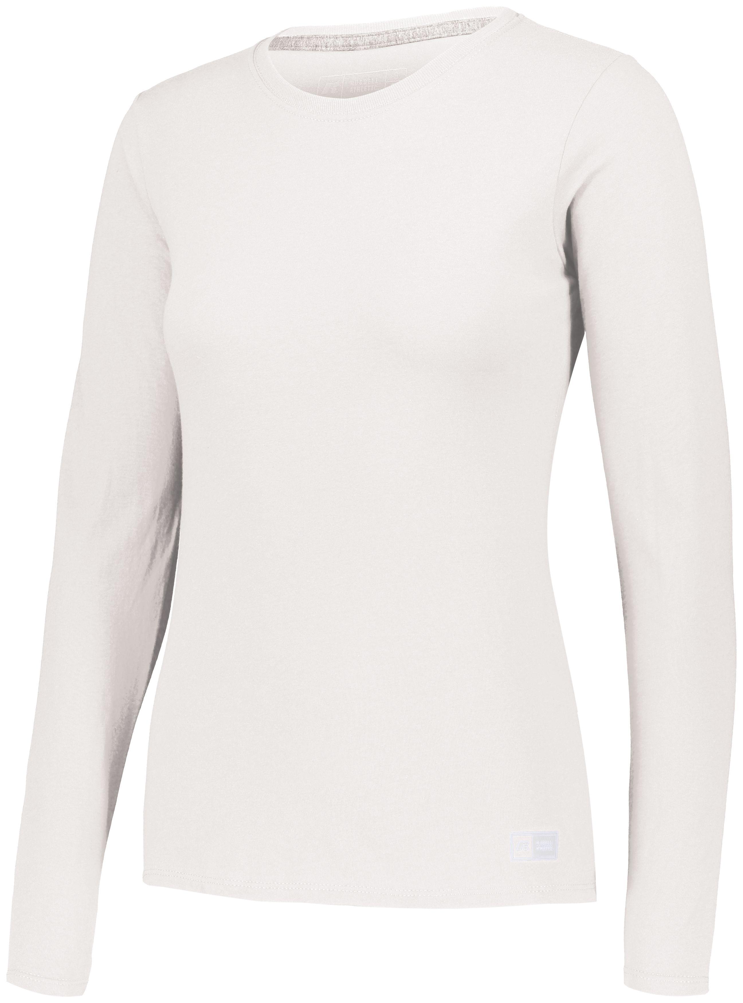 Ladies Essential Long Sleeve Tee - White