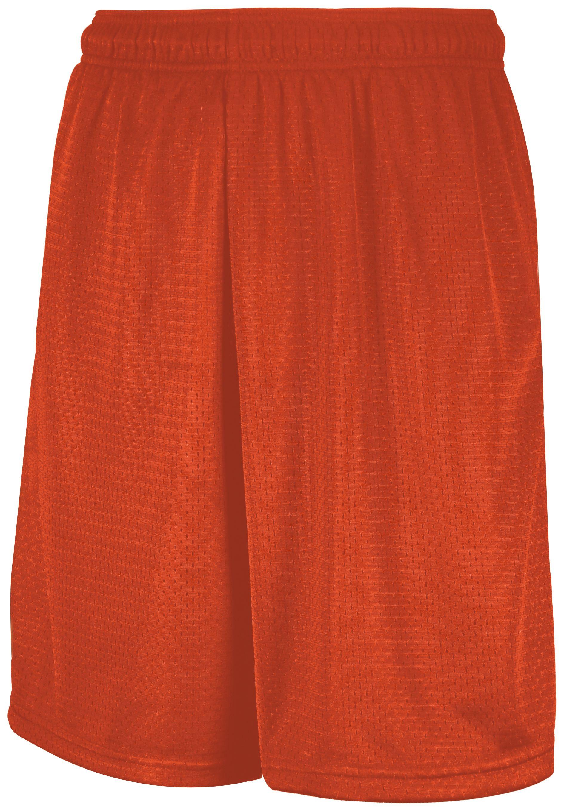 Mesh Shorts With Pockets - Burnt Orange