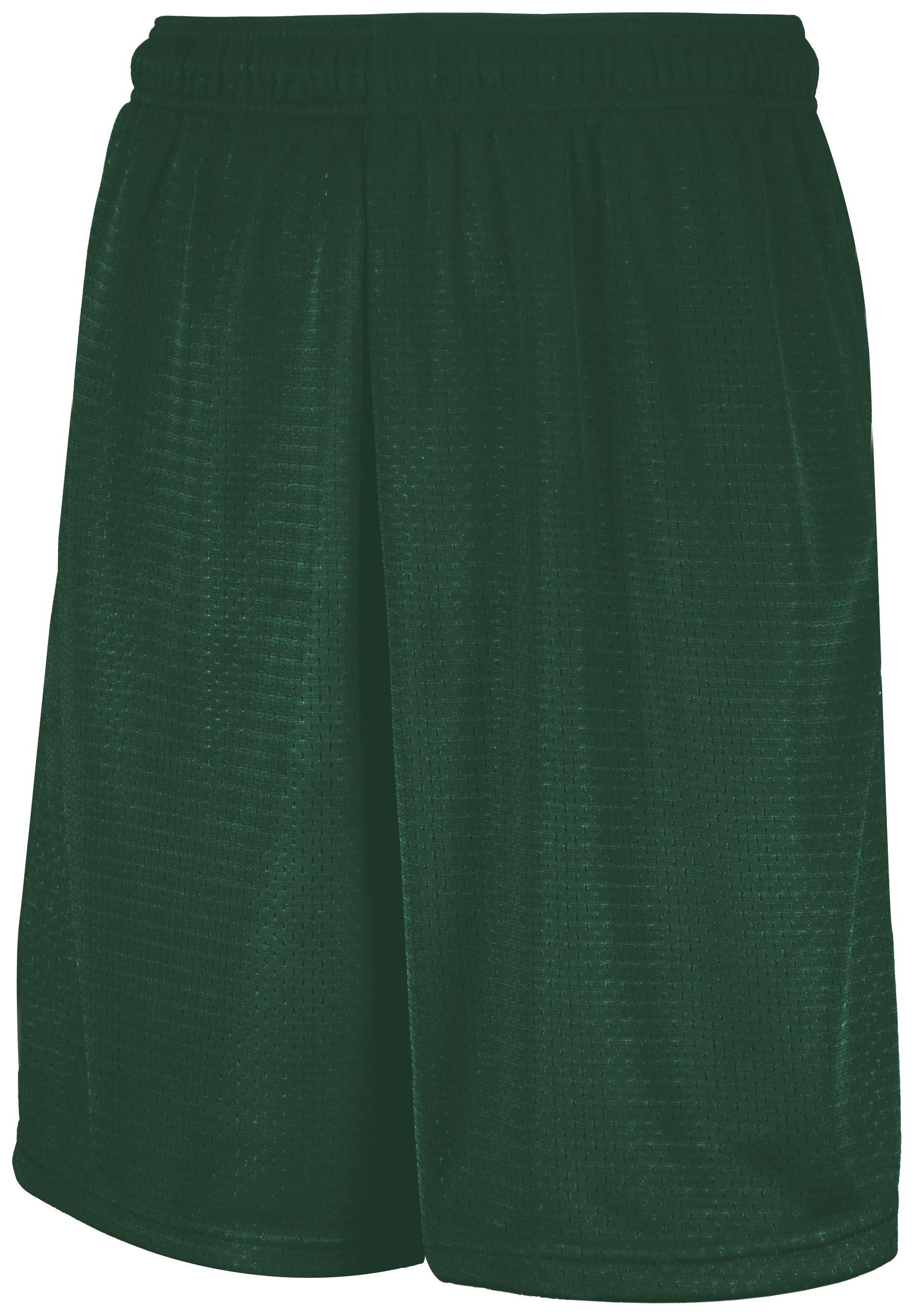 Mesh Shorts With Pockets - Dark Green