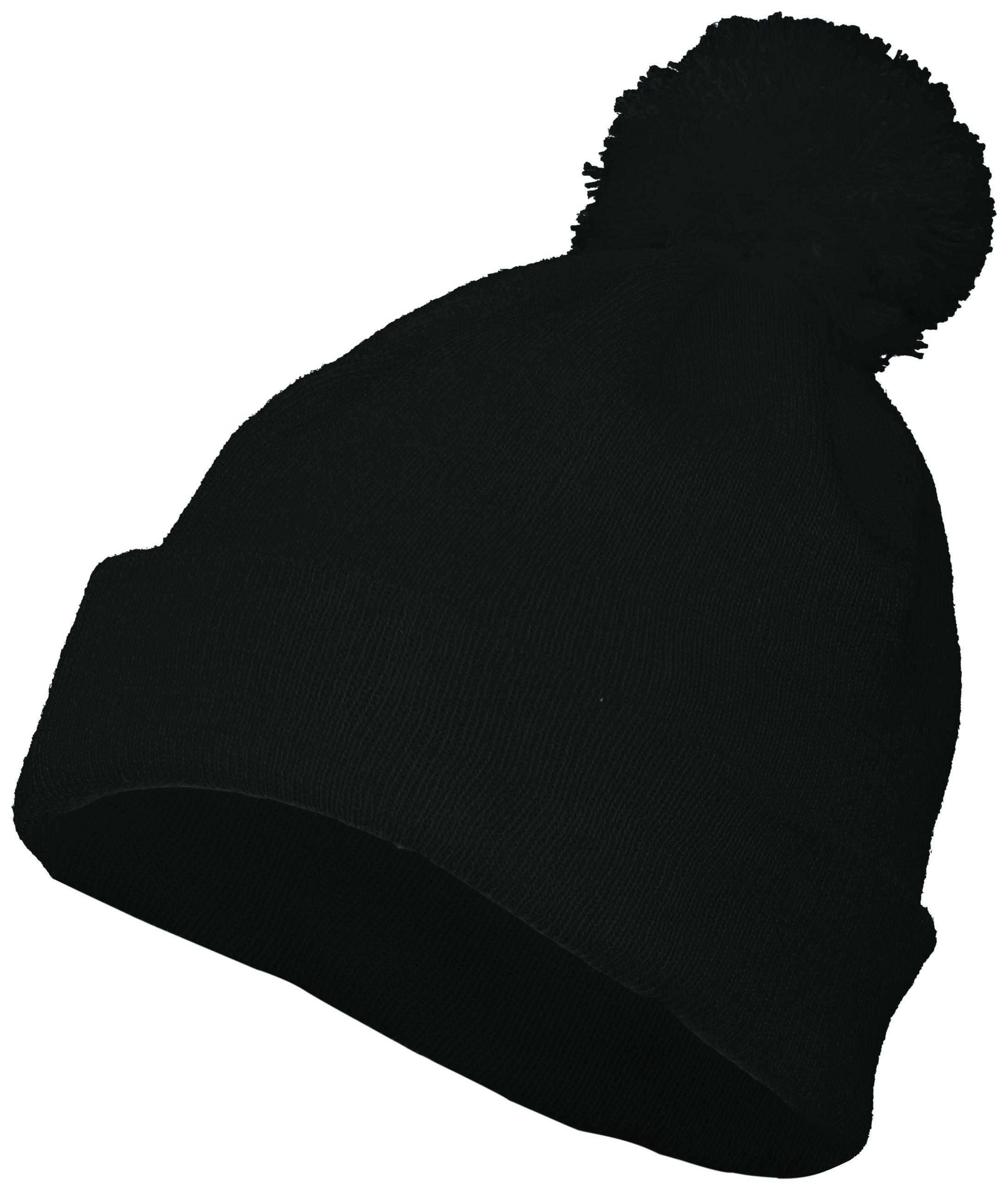 Pom Beanie - BLACK