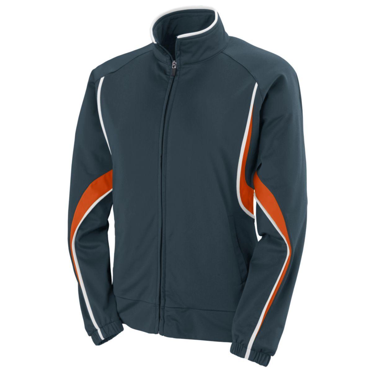 Ladies Rival Jacket - SLATE/ORANGE/WHITE